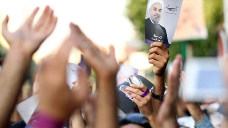 Hassan Rouhani, seen by many as a reformer, won in the first round of the recent elections in Iran [EPA]