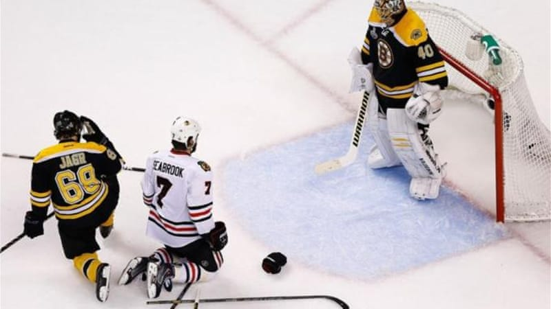 Rask stopped 28 shots from Chicago Blackhawks as Bruins took 2-1 lead in finals [GALLO/GETTY]