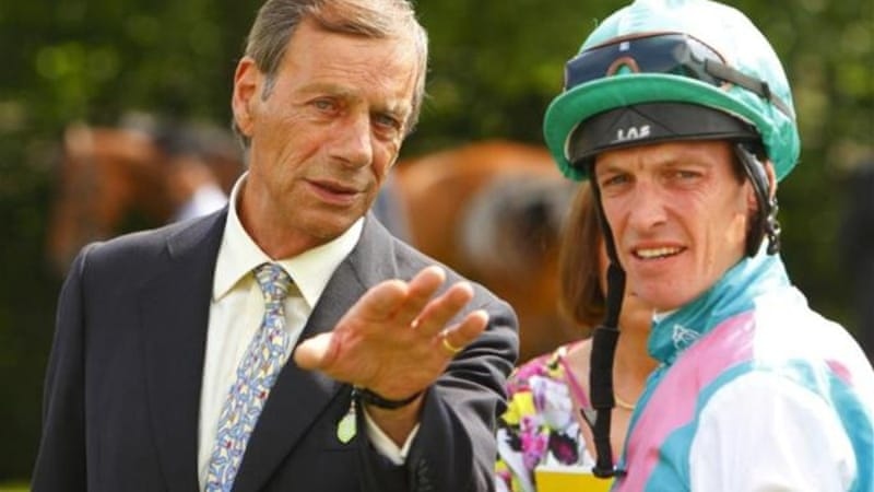 Trainer of Frankel and winner of 25 British Classics, Henry Cecil (L), died at 70 on June 11 [AP]