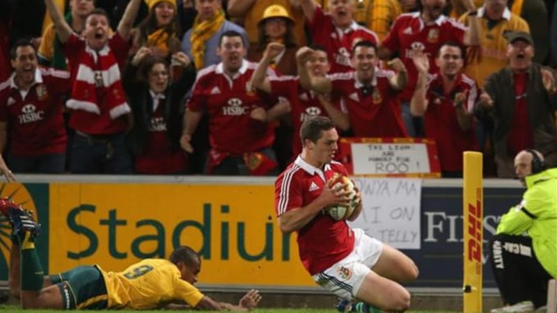 George North put Lions ahead but game was decided by a tense final ten minutes [GALLO/GETTY]
