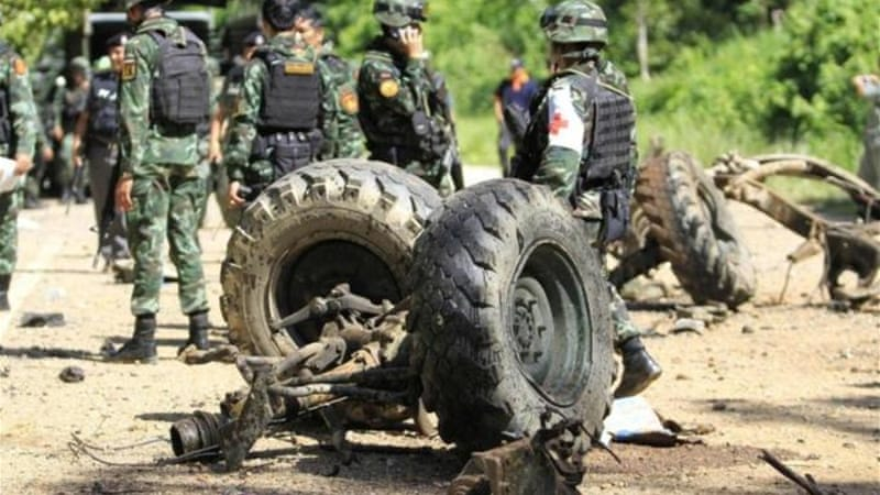 An army spokesman said that the incident is the biggest loss for Thailand's military this year [Reuters]