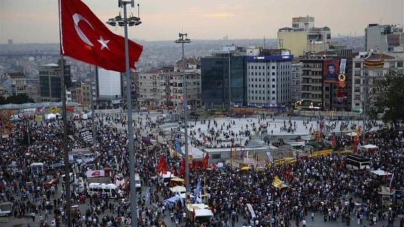 Thousands of demonstrators returned on Wednesday to Istanbul's Taksim Square [Reuters]