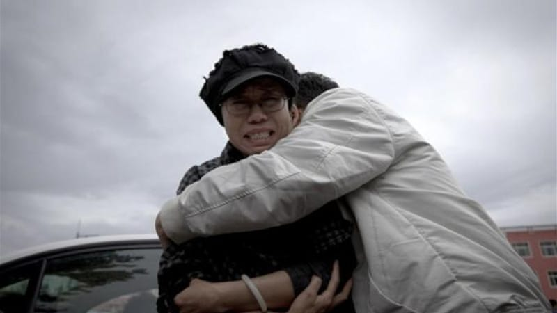 Liu Xia, wife of imprisoned Nobel Peace Prize winner Liu Xiaobo, was in tears after the hearing [AP]
