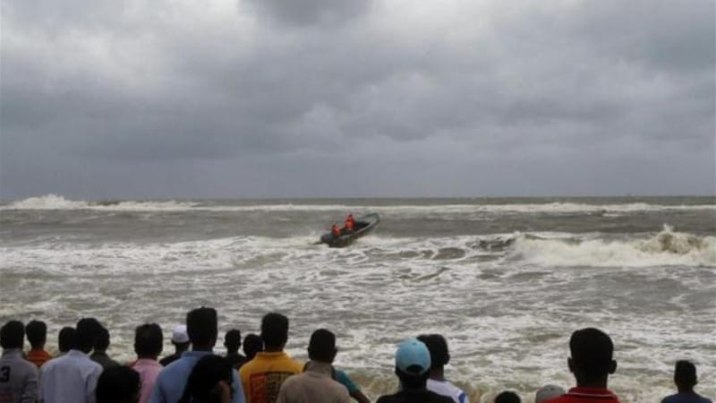 Rescue boats have been searching for missing fishermen off the coast of the capital Colombo [AFP]