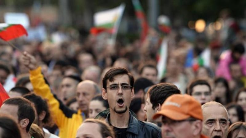 The protests against the appointment of Delyan Peevski have morphed into demonstrations over the political culture in Bulgaria [AFP]