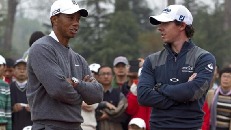 World number one Woods and Northern Ireland's McIlroy have had contrasting fortunes this season [AP]