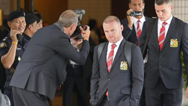 In the eye of a media storm: Rooney's future remains unclear after reported friction between club and player [EPA]