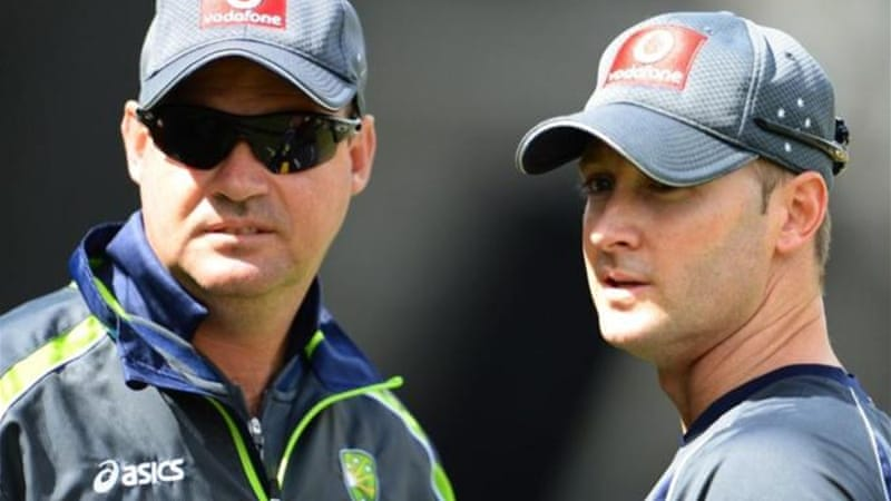 Clarke (R) says preparations have not been affected by lawsuit filed by former coach Mickey Arthur (L) [AFP]