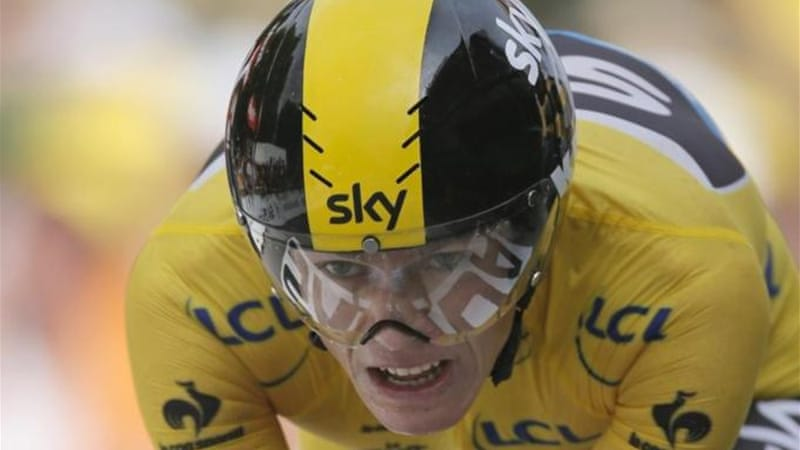 Froome claimed his third stage win of the race and now leads Contador by four minutes 34 seconds [AP]