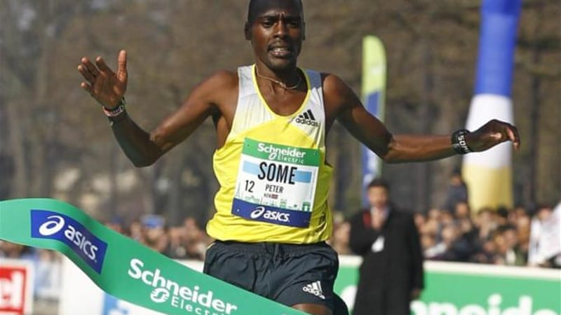 Some won the Paris Marathon on April 7, 2013 in a time of 2 hours 5 minutes and 38 seconds [AP]