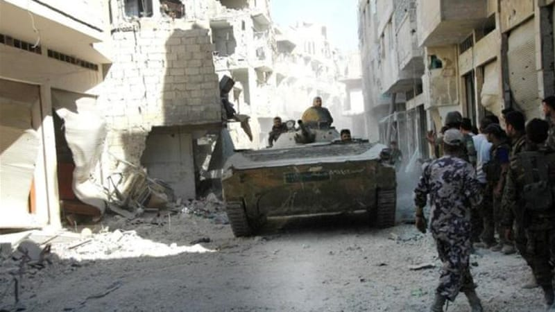 The push on Homs is part of a broader government offensive on rebel-held areas [Reuters/SANA]