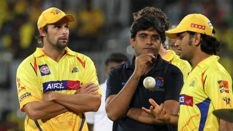 Chennai Super Kings owner Gurunath Meiyappan (C) is no longer in clear after 'unconstitutional'  ruling [AFP]
