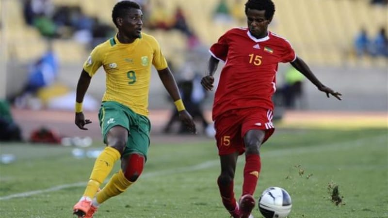 Minyahile Beyene (L) was illegally fielded during Ethiopia's 2-1 win against Botswana [GALLO/GETTY]