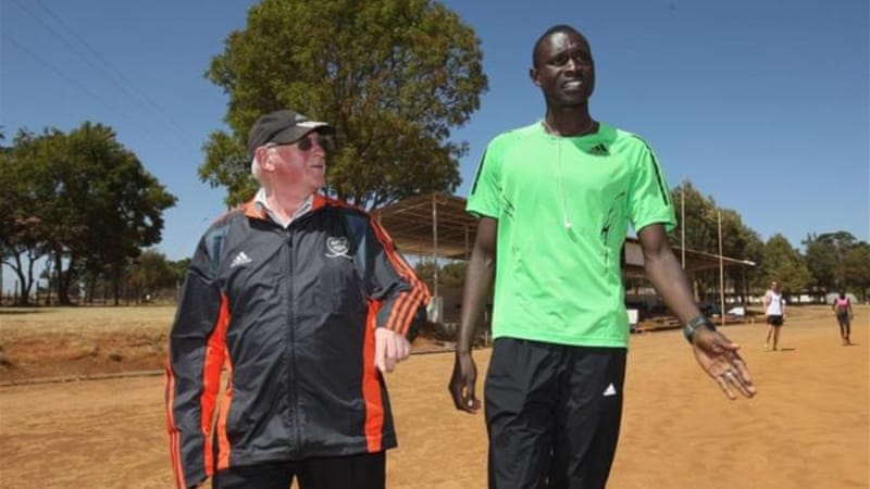 Brother Colm O'Connell (L) is learning from gymnastics to coach Olympic champion David Rudisha [GALLO/GETTY]