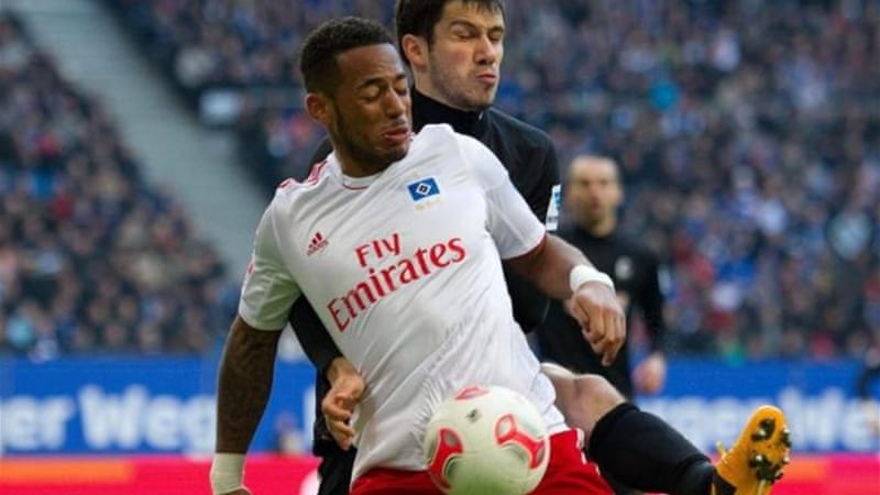 Hamburg's Dennis Aogo (front) is on the hit list for Schalke as they prepare for Champions League campaign [EPA]