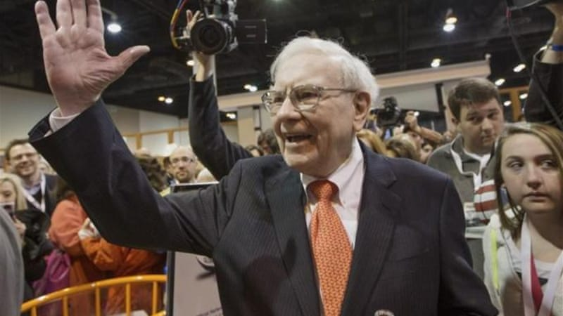 The son of billionaire Warren Buffett (above) has accused his philanthropist peers of 'conscience laundering' [AP]