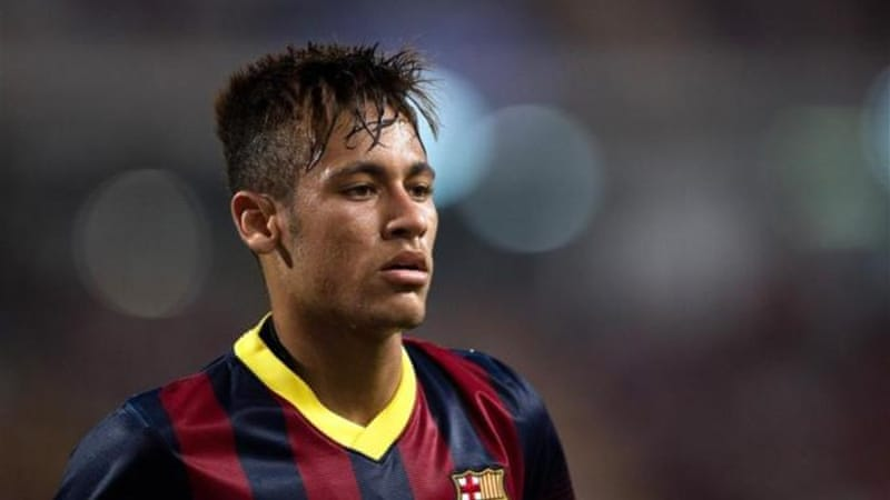 Neymar (pictured) worked well alongside Messi in a game that also saw Fabregas shine [AFP]
