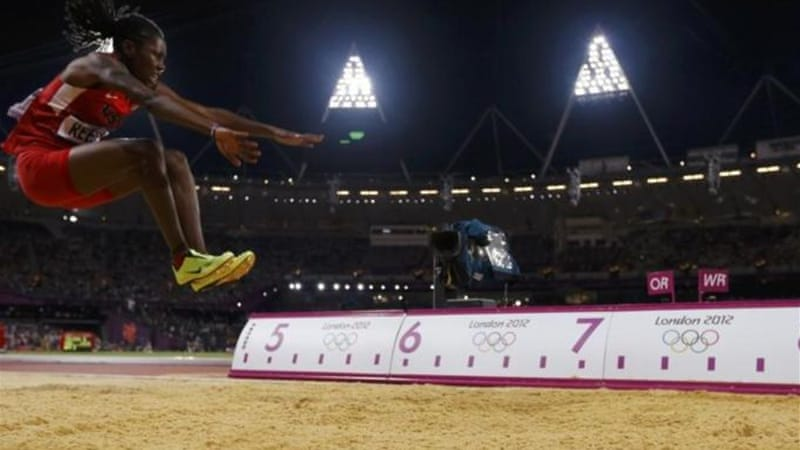 Brittney Reese of the U.S. competes in the women's long jump final during t[Reuters]