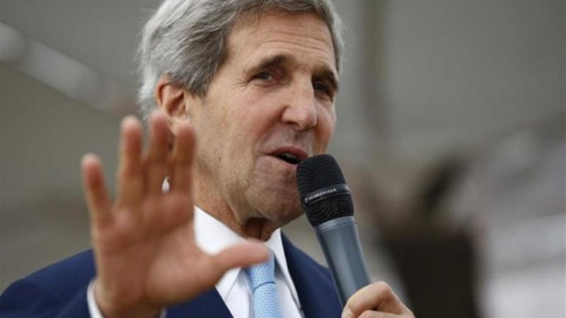 "US Secretary of State John Kerry recently described the recent coup in Egypt as ""restoring democracy"" [AP]"