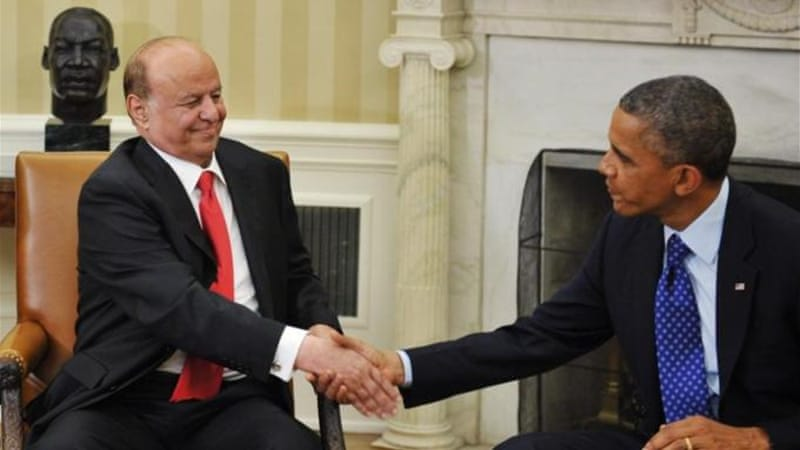 Yemen was hit by three drone strikes in the week after Yemeni President Hadi's meeting with Obama [AFP]