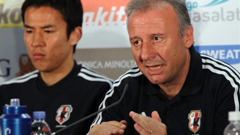 Japan coach Alberto Zaccheroni (R) said his whole team lost its composure at the Confederations Cup [AFP]