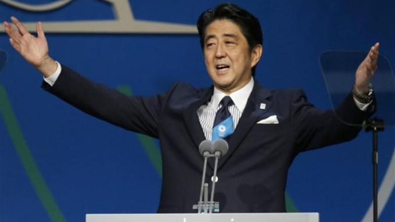 Japan's Prime Minister Shinzo Abe gave a moving final speech before the IOC revealed Japan were hosts [AP]
