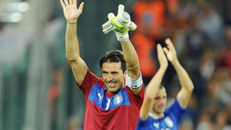 Buffon equalled the Italian record for most caps [Getty]