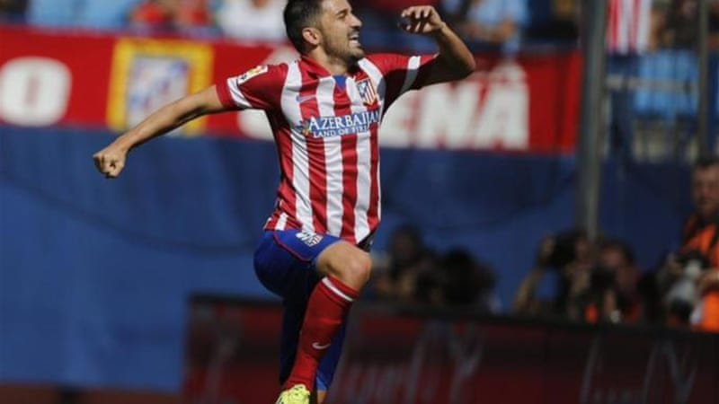 Former Barcelona player David Villa has already scored twice in four appearances for Atletico [AP]