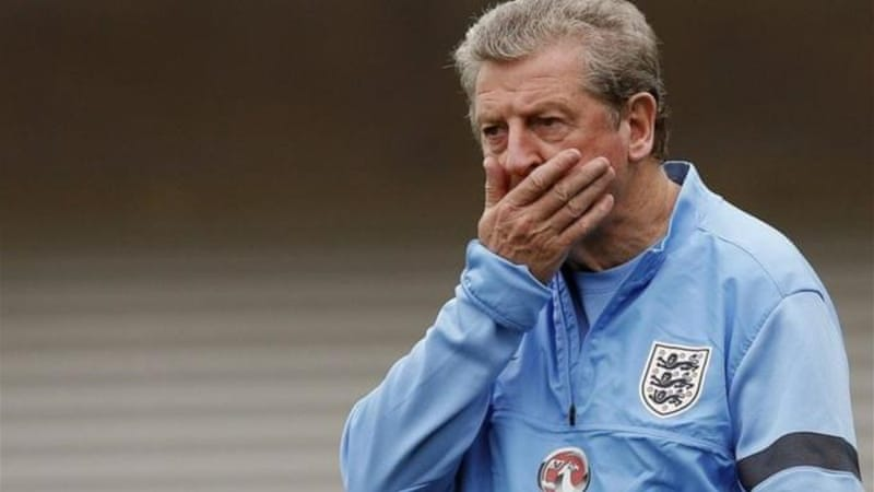 England's manager Roy Hodgson has unenviable task of selecting from England's dwindling pool of talent [Reuters]