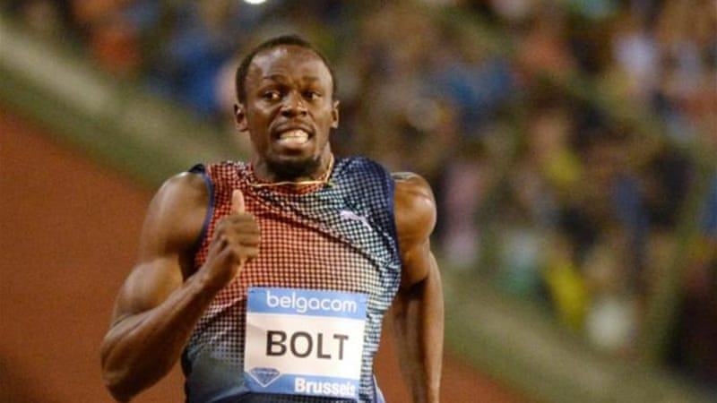Poor start, lightning finish: Bolt won the 100, 200 and 4x100 relay golds at last month's world championships [AP]