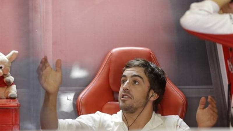 Alonso, who shouted at team during qualifying, will start behind Ferrari teammate Felipe Massa on Sunday [AP]