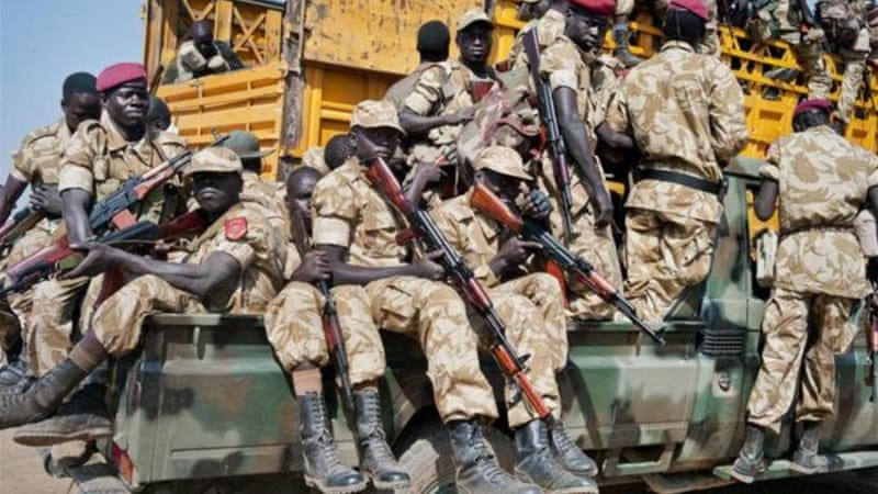 South Sudanese troops are being assisted in combat roles [AP]