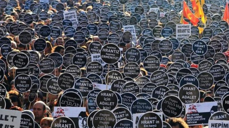 A rally has been staged in Istanbul on January 19 every year to mark the anniversary of Dink's killing [AFP]