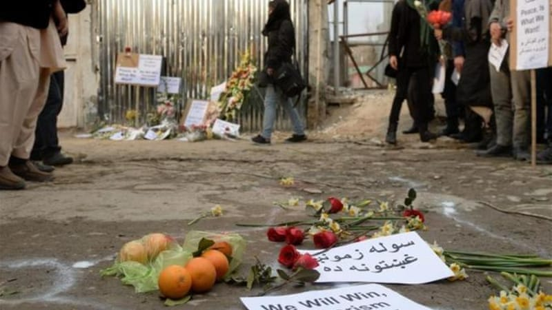 Social activists and local residents paid tribute to the victims of Friday's the blast [AFP]