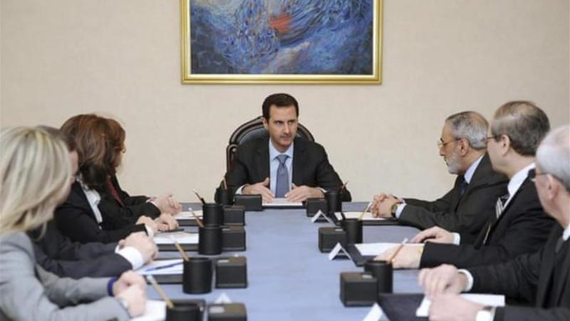 Syria's President Bashar al-Assad has reiterated that he has no intention of stepping down, his opponents remain bitterly divided [Reuters]