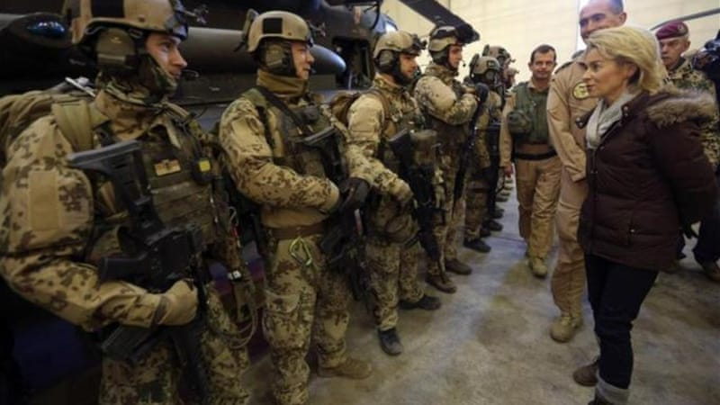 Ursula von der Leyen said she foresaw boosting the training mission in Mali [File: Reuters]