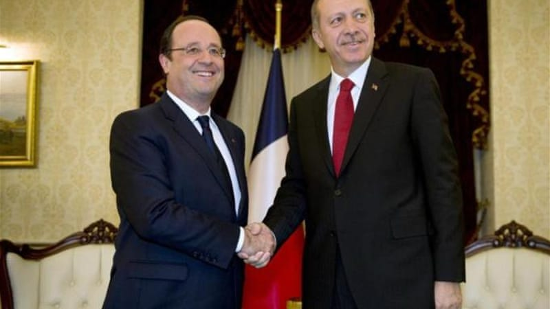 Hollande's trip is the first by a French head of state to Turkey in 22 years [AFP]