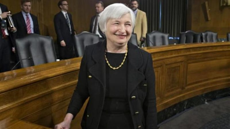 Janet Yellen faces enormous challenges as chair of the Federal Reserve Board [AP]