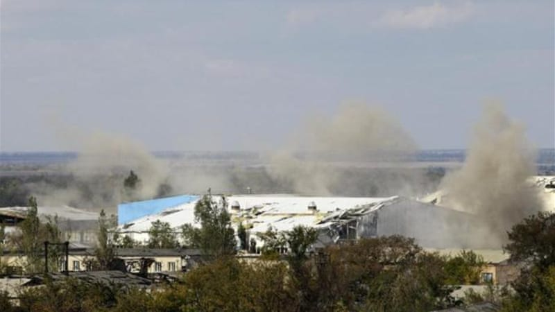 Rebels claim to be in control of 90 percent of the Donetsk airport [AP]