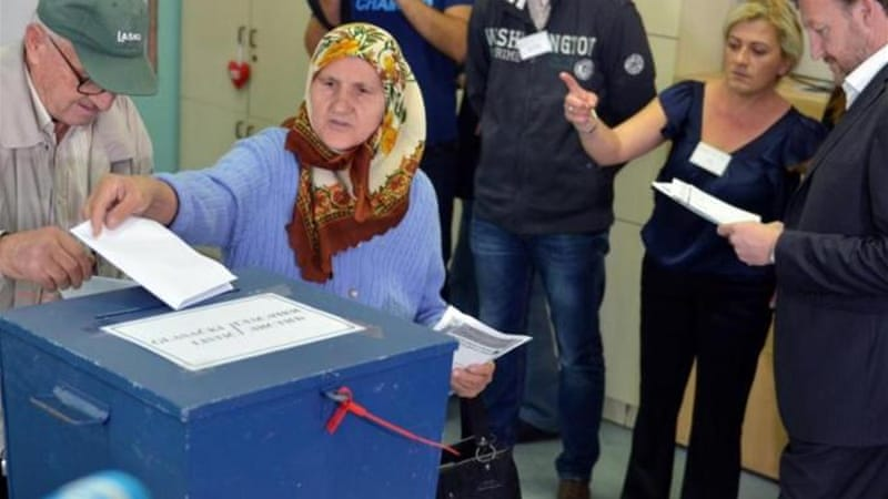 Turnout for Bosnia's elections was estimated at 54 percent [AFP]