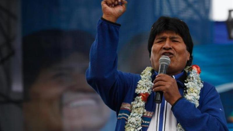 Morales has promised to consolidate 'indigenous socialism' that has extended the state's role [AP]