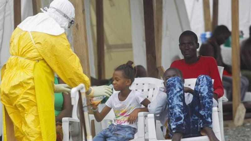 Health workers fear contracting Ebola from patients, writes Burke [EPA]