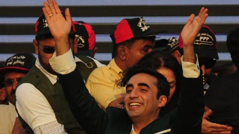 Bhutto's son launches political career