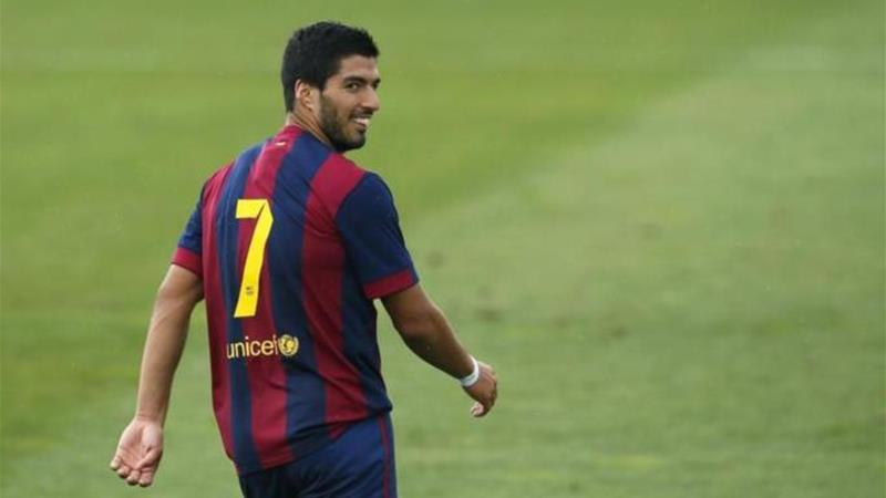 Suarez is set to make his Barcelona debut against Real Madrid this Saturday [REUTERS]
