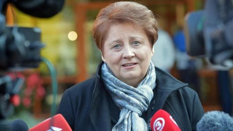 The Unity Party, the biggest in the coalition, wants current prime minister Straujuma to continue [AFP]