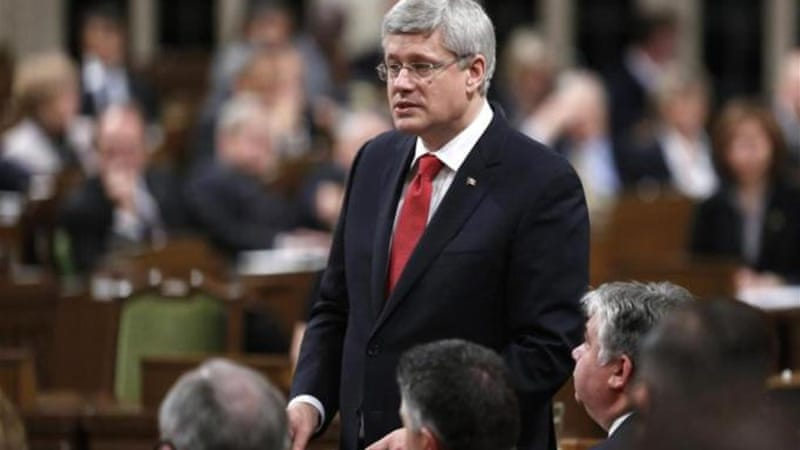 Harper relied on the spurious argument that Canada should go to war in self-defense, writes Verma [Reuters]