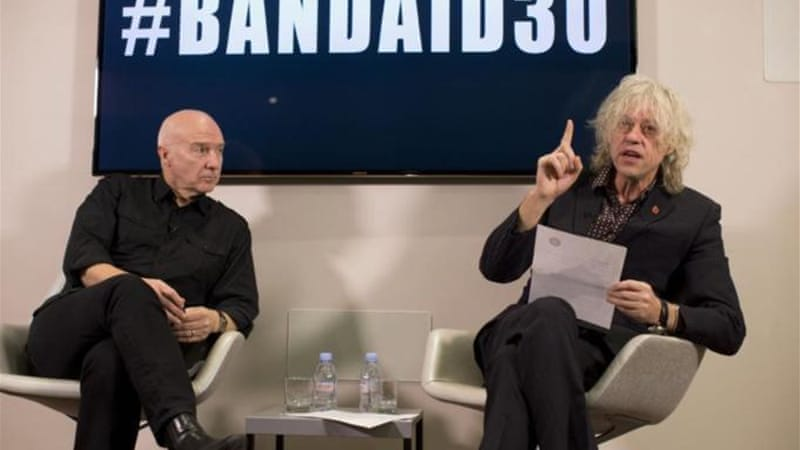 Irish singer-songwriter and campaigner Bob Geldof announced the launch of #BandAid30 to raise funds to fight Ebola in West Africa [AP]