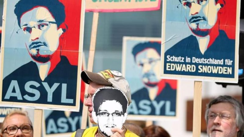 One of the biggest setbacks for FOI activism in Berlin was that Edward Snowden wasn't given a chance to come to Germany to give testimony, writes Froitzhuber [EPA]