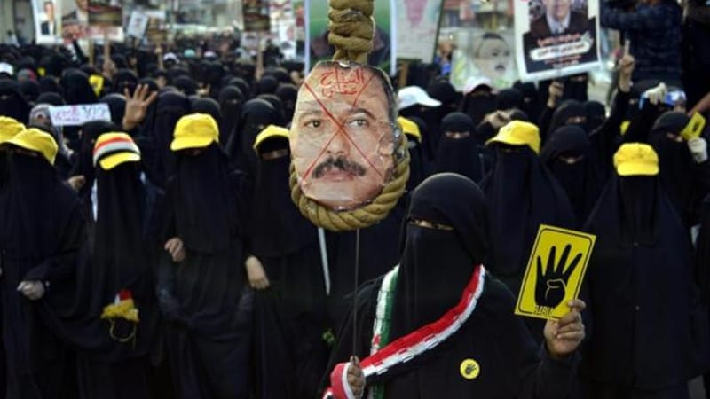 Saleh was forced to step down in February 2012 following mass protests across the country [EPA]