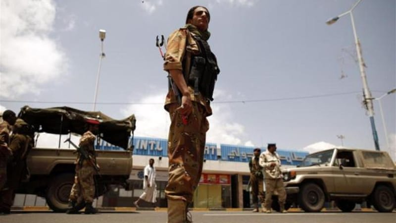 The Yemeni air force has a base adjacent to the civilian international airport in Sanaa [Reuters]
